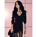 Leisure Times Fashion Long Sleeve Slim Fit Bodycon Dress