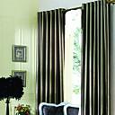 (2パネル)現代の茶色のジャガード裏地カーテン