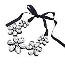 Ženska slatka kristalima ogrlica cvijeće