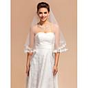 Vjenčani velovi One-tier Elbow Burke Čipka aplicirano Edge 59.06 u (150cm) Til SlonovačaRetka, Ball haljina, princeza, Plašt / stupac,