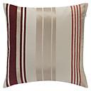 スタイリッシュな赤ストリップポリエステル装飾枕カバー