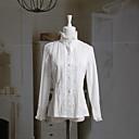 Dugi rukav stand Collar bijelu pamučnu bluzu Classic Lolita