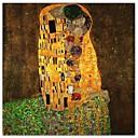 poljubac Gustava Klimta poznatog umjetničkog tiska