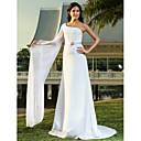 Lanting Bride® Pouzdrové Drobná / Nadměrné velikosti Svatební šaty - Elegantní & moderní / Elegantní & luxusní Dlouhá vlečka Jedno rameno