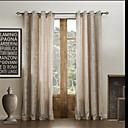 二つのパネル固体古典的なシェニールレーヨン環境に優しいカーテン