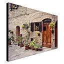 壁にキャンバスアート風景の花、トスカーナ、イタリアハングアップする準備ができてモンテナグラーによる
