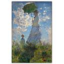 Žena sa suncobranom - madame Monet, a njezin sin je Claudea Moneta poznatog umjetničkog tiska