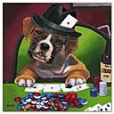 キャンバスアート動物ポーカー犬2ジェニーのニューランドによるハングアップする準備ができて
