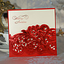 ラップ式 結婚式の招待状 招待状カード-50 ピース/セット クラシック / フローラル カード用紙 15cm*15cm