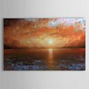 Ručně malované Krajina / Abstraktní krajinka Jeden panel Plátno Hang-malované olejomalba For Home dekorace