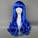 Royal Blue Gothic Lolita Curly Wig