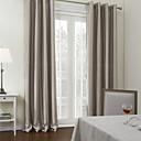 現代の灰色の横縞遮光カーテン(2パネル)