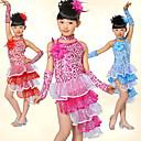 Latinské tance Úbory Dětské elastan / Tyl Květiny / Flitry Přírodní