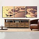 moderní styl retro nástěnné hodiny v plátně sadě 3