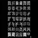 イメージのテンプレートプレート抽象スタンピングアートスタンプネイル
