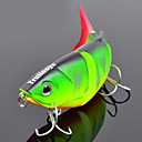 Trulinoya-Hard Bait Four-section Minnow 80mm/10g Slow Sinking Fishing Lure (Random Color)