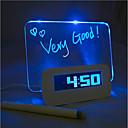 4つのUSBポートのハブ(USB)とのメッセージボード青色光デジタル目覚まし時計