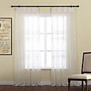 Dva panely Window Léčba Země , S lístky Polyester Materiál Sheer Záclony Shades Home dekorace For Okno