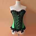 Zelená a černá Floral Lace Gothic Lolita Korzet