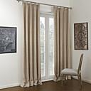 neoklasicistički dvije ploče čvrste kaki dvosobna lana / poliester mješavina panel zavjese upravljanje svjetlom