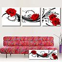 Protezala Canvas Art Cvjetni Red Roses Ples Set od 3