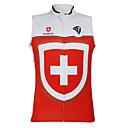 Kooplus2013 Mistrovství Jersey Švýcarsko 100% polyesterových Wicking rukávů na kole vesta s reflexními pásky