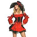 Cosplay Kostýmy Kostým na Večírek Pirát Festival/Svátek Halloweenské kostýmy Červená Šaty Klobouk Halloween Karneval Nový rok Dámské