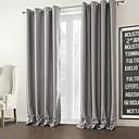 twopages® dva panely stříbro solidní moderní pokoj ztmavnutí opona