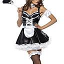 Cosplay Kostýmy Uniformy Festival/Svátek Halloweenské kostýmy Bílá / Černá Patchwork Šaty / Vlasové ozdoby / Zástěra / T-BackHalloween /