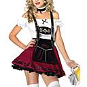 Cosplay Kostýmy Uniformy Festival/Svátek Halloweenské kostýmy Bílá / Vínově rudá Šaty / Více doplňků Oktoberfest Bavlna / Polyester