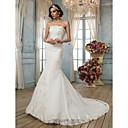 Lanting Bride® Sirena kroj Sitna Vjenčanica - Klasično i svevremensko / Elegantno i luksuzno Vintage inspirirano Srednji šlepBez