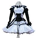 Jednodílné/Šaty Sweet Lolita Lolita Cosplay Lolita šaty Černá Patchwork Dlouhé rukávy Short Length Šaty Pro Dámské Bavlna