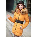 ベルト付きの女性の毛皮の襟クリップ綿のコート