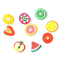 3D Fimo Slice Cartoon Fresh Fruit Face Nail Art Dekorace