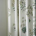 Dvije ploče Michelle luxury® zemlja botanički trave ispis eko friendly zavjese upravljanje svjetlom