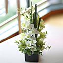 """16.5ブラックスクエア花瓶と """"西洋蘭アレンジメント"""