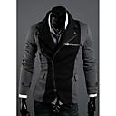 DJJM Moda Nepravilna Zipper dizajn Spell Boja krpu odijela Rimu (Gray)
