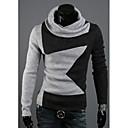 男性用の高襟のプリントニットsweatershirt