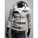 HCZ Muška Veliki Veličina Slim Fit svijetlo siva džemper / kaput y017-3