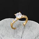 Yueli Dámské 18K Gold Zirkon prsten J0034