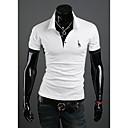 LEEBIN Muška Deer Vez kratki rukav T Shirt (White)