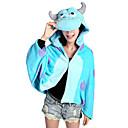 Kigurumi Pyžama Monster Přehoz Festival/Svátek Animal Sleepwear Halloween Modrá Patchwork Coral Fleece Kigurumi Pro Unisex Halloween