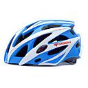 MOON Biciklizam Blue + Bijela PC + EPS 25 OTVORI MTB zaštitnu kacigu