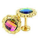 Fancy Euro boje dijamanata Inlay preprekama (jedan par)