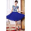 Duolabana visokim strukom cvjetni print Swing Dress