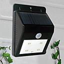 Solární 4 LED PIR čidlo venkovní světlo (CIS-57164)