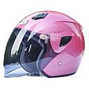 711-2 abs materiál motocyklu poloviny helmu (s oranžovém objektivem, volitelné barvy)