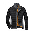 GUYIQI Pánská móda límec zahustíme Cotton Jacket (modrá)
