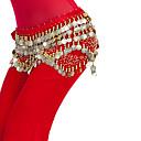 ベリーダンス ベリーダンス用ヒップスカーフ 女性用 訓練 ポリエステル ビーズ / コイン / スパンコール 1個 ナチュラルウエスト ヒップスカーフとベルトは含まれていません.