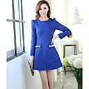 Yijiaren elegantne ženske Blue Stand cvjetni print Bodycon Work haljina